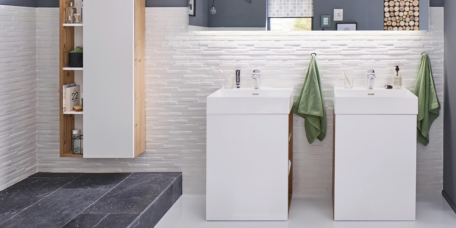 Waschtischunterschrank mit Waschtisch Ore