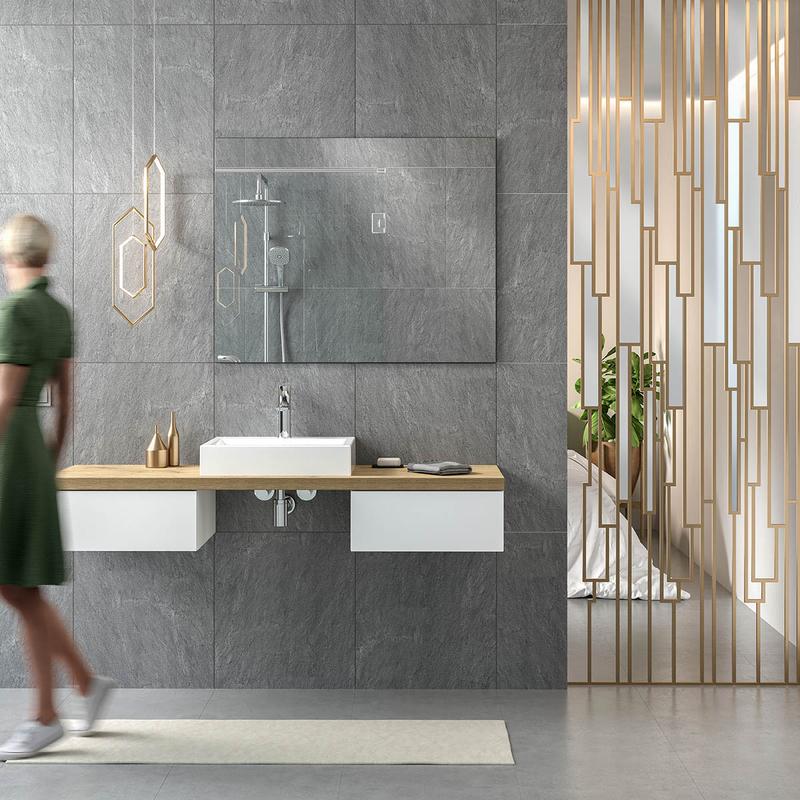 Waschtischplatte  2, 3, 4 cm in Eiche Holzdekor nach Maß