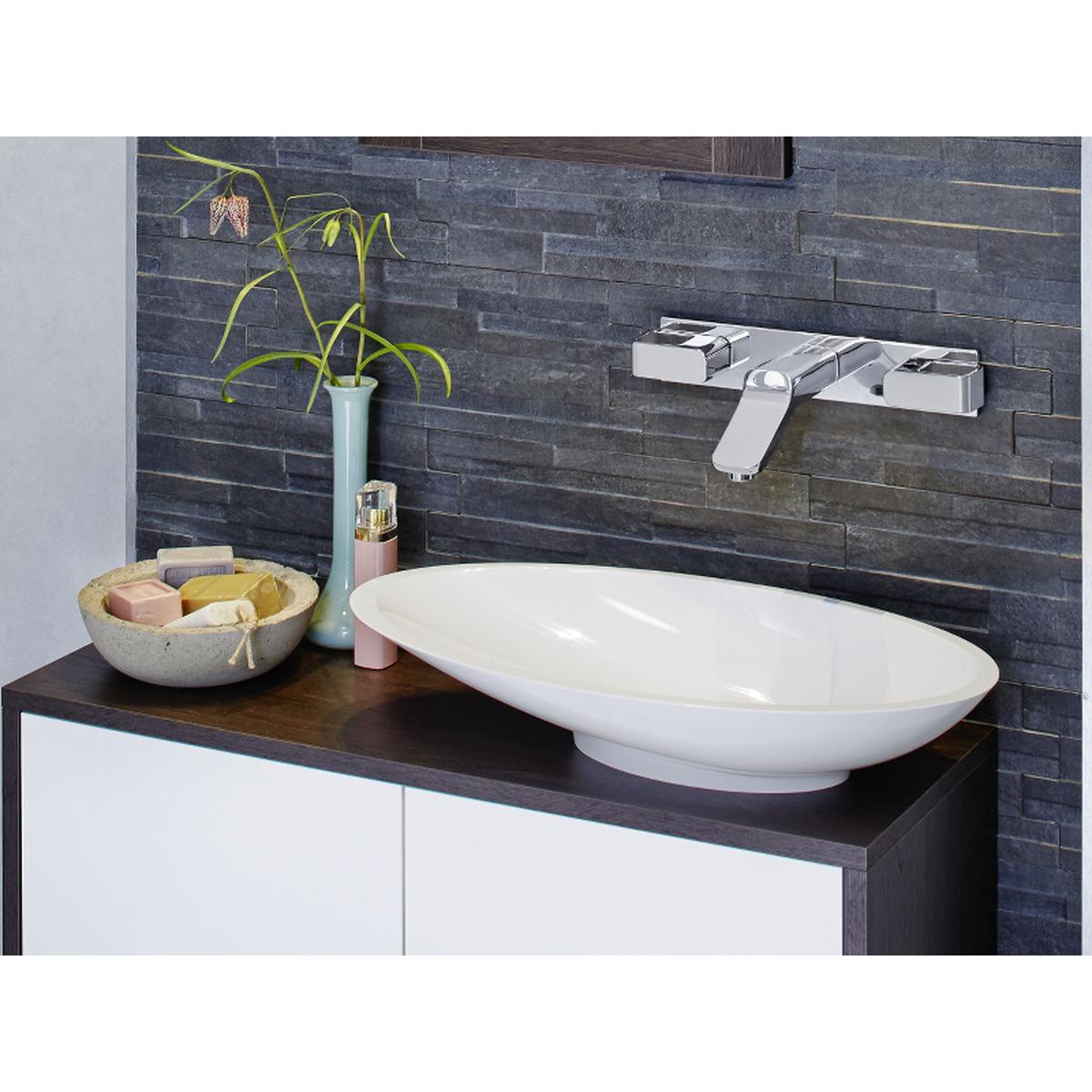ore mineralguss aufsatzwaschbecken 59 x 31 cm wei. Black Bedroom Furniture Sets. Home Design Ideas