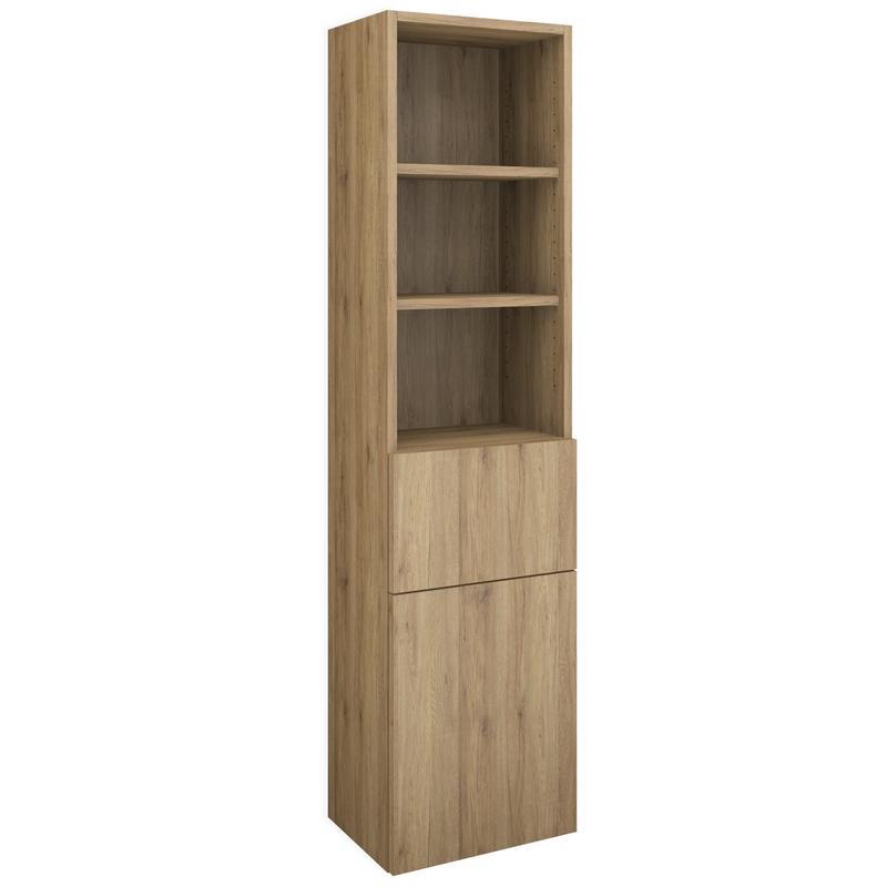 hochschrank regal nach ma 1 auszug und 1 t r. Black Bedroom Furniture Sets. Home Design Ideas