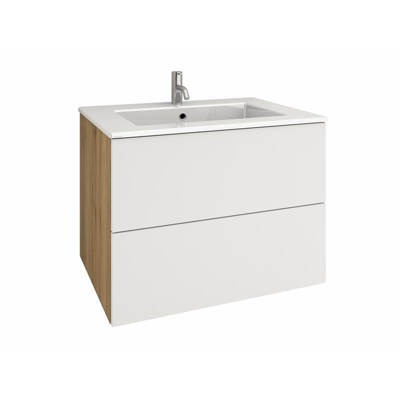 RIBERO 70 Waschtisch-Set mit Schublade & Auszug   {Waschtischplatte mit schublade 71}
