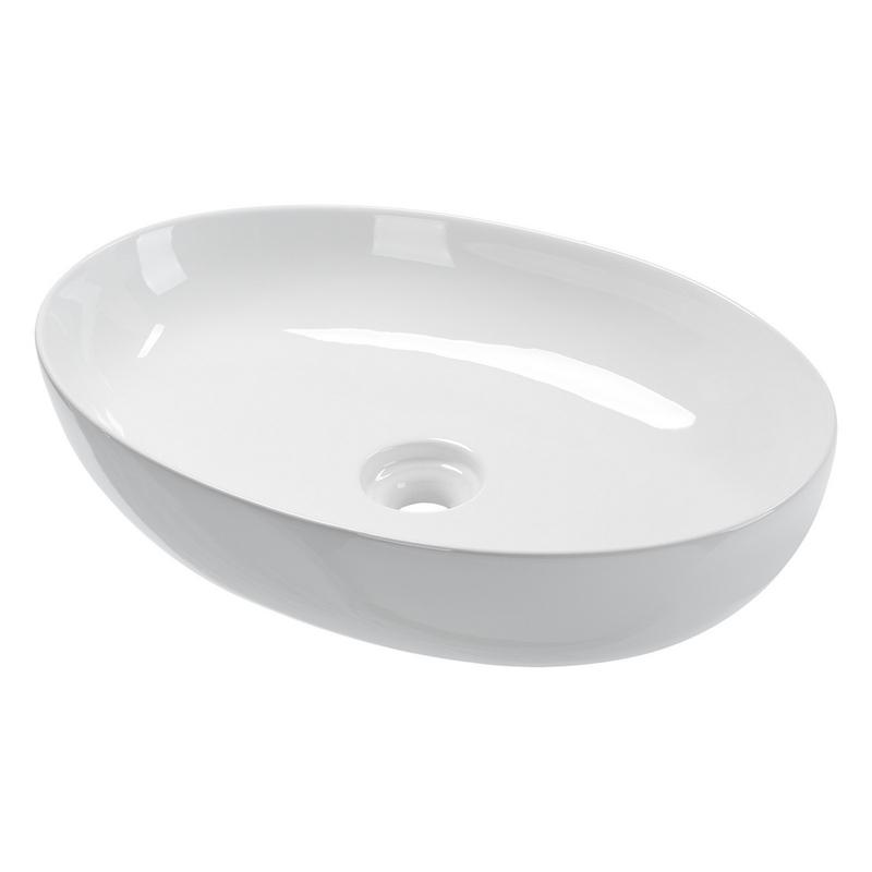 Marina 55 Oval Keramik Aufsatzwaschbecken 55 5 X 38 5 Cm