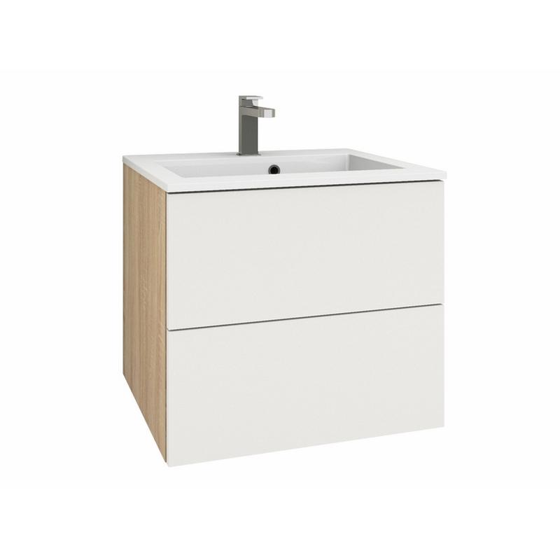 60 Mineralguss Waschtisch-Set nach Maß mit 1 Schublade und 1 Auszug | {Waschtischplatte mit schublade 39}