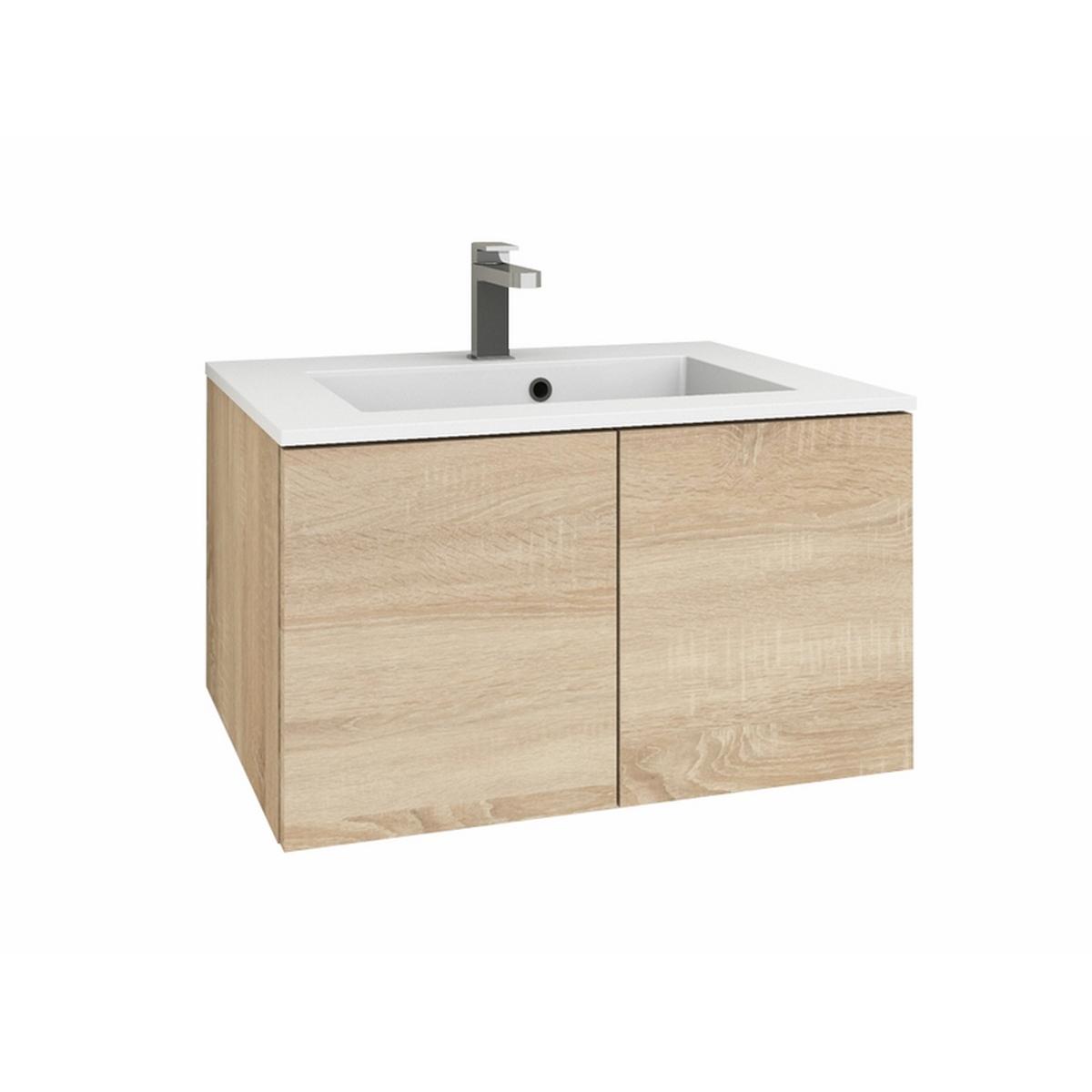 levanto 70 mineralguss waschtisch set mit 2 t ren. Black Bedroom Furniture Sets. Home Design Ideas