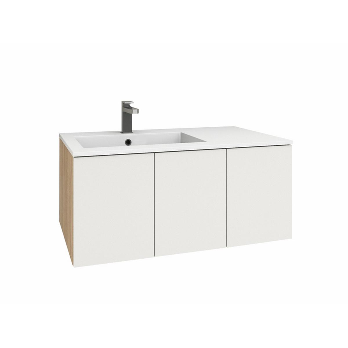 levanto 90l mineralguss waschtisch set mit 3 t ren. Black Bedroom Furniture Sets. Home Design Ideas