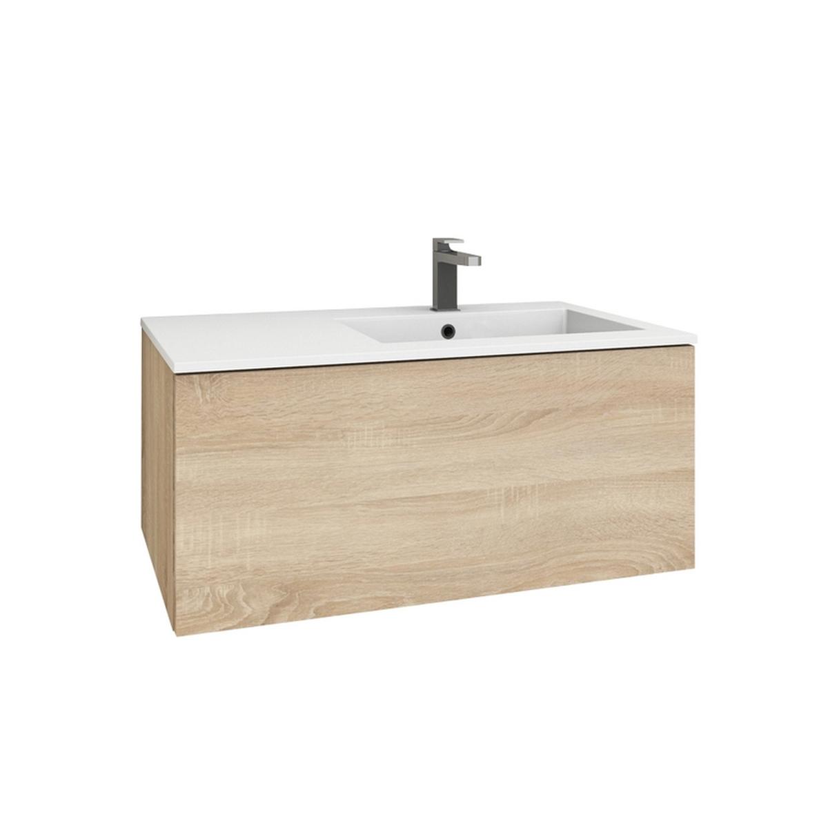 levanto 90r mineralguss waschtisch set mit auszug. Black Bedroom Furniture Sets. Home Design Ideas