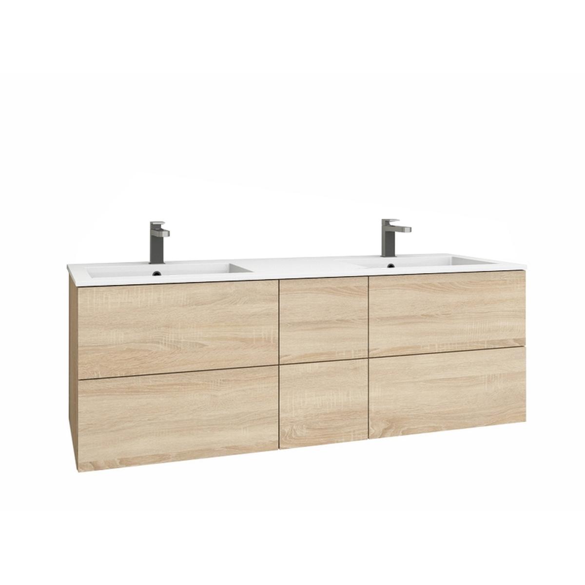 levanto 150d doppelwaschtisch 2 schubladen 4 ausz ge. Black Bedroom Furniture Sets. Home Design Ideas