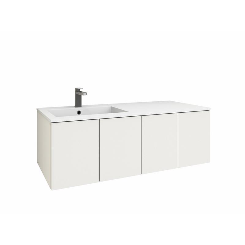 levanto 120l mineralguss waschtisch set mit 4 t ren. Black Bedroom Furniture Sets. Home Design Ideas