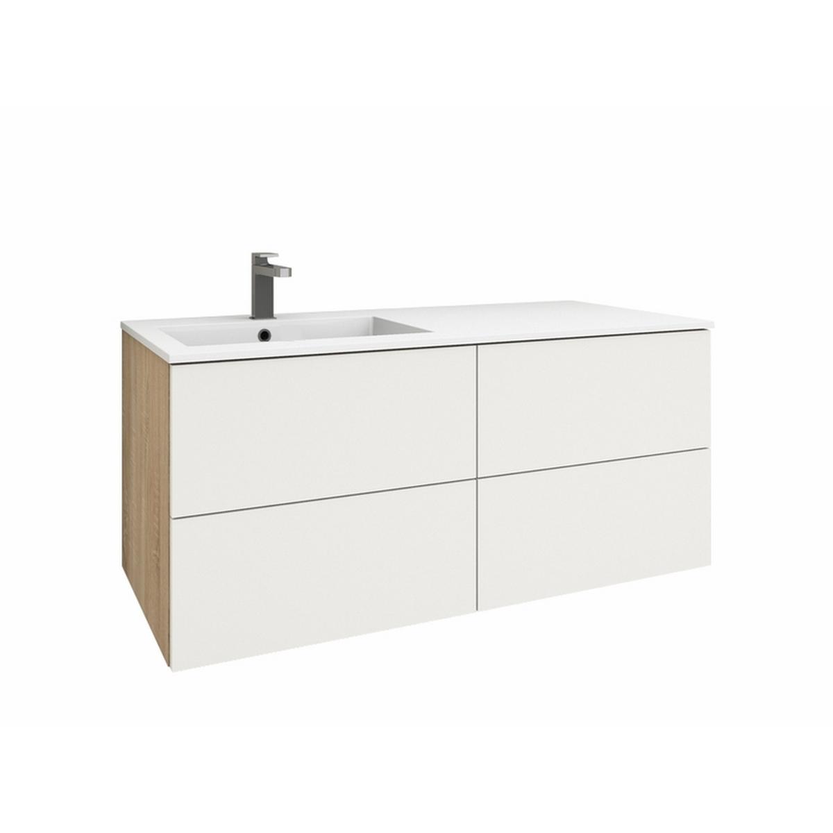levanto 120l waschtisch set 2 schubladen 2 ausz ge. Black Bedroom Furniture Sets. Home Design Ideas