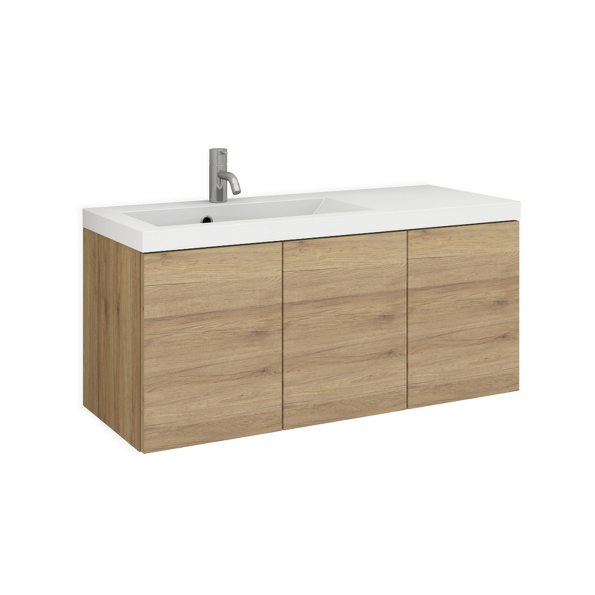 evia 90l mineralguss waschtisch set nach ma mit 3 t ren. Black Bedroom Furniture Sets. Home Design Ideas