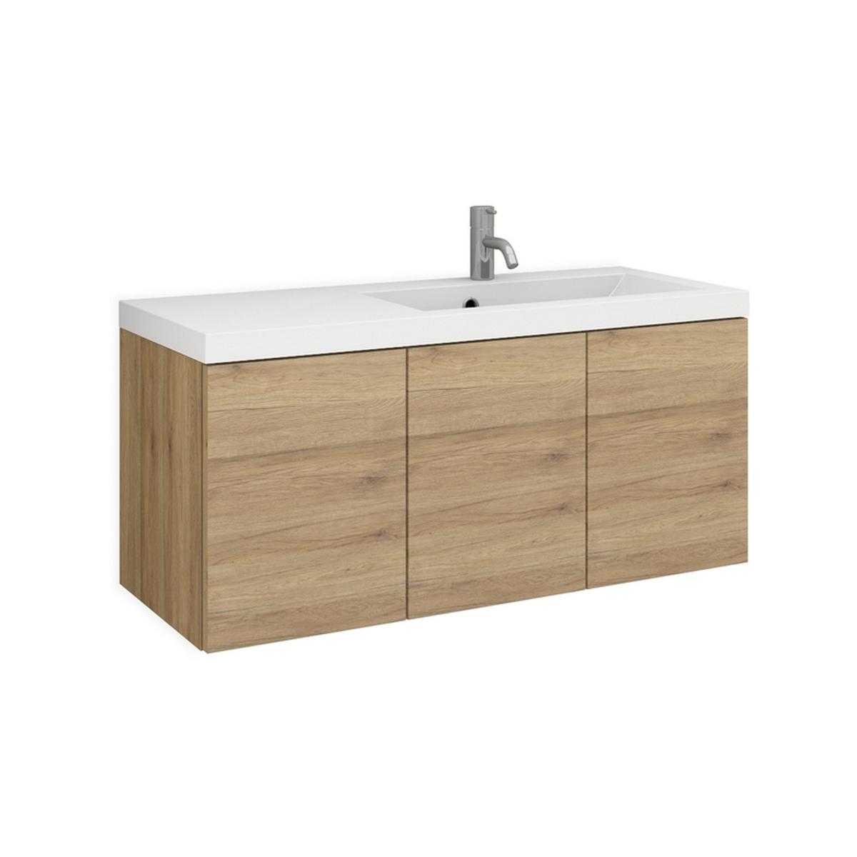 evia 90r mineralguss waschtisch set nach ma mit 3 t ren. Black Bedroom Furniture Sets. Home Design Ideas