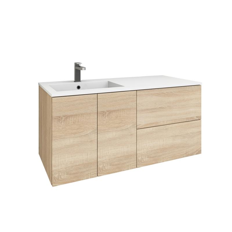levanto 120l waschtisch set 2 t ren schublade auszug. Black Bedroom Furniture Sets. Home Design Ideas