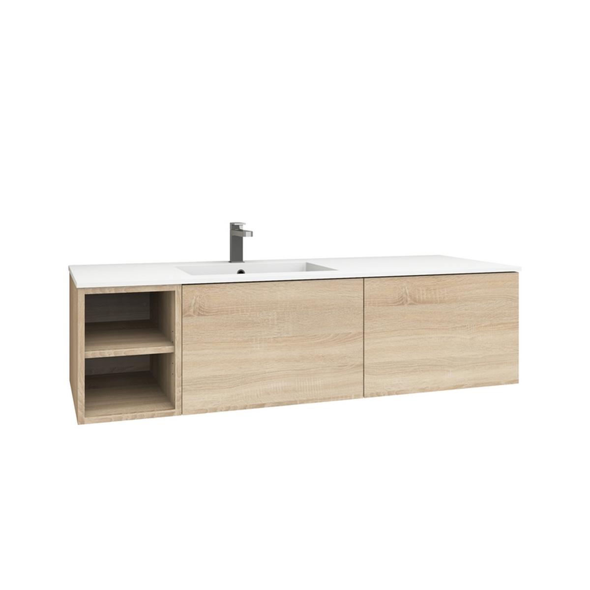 levanto 150l waschtisch set mit regal 2 ausz gen. Black Bedroom Furniture Sets. Home Design Ideas