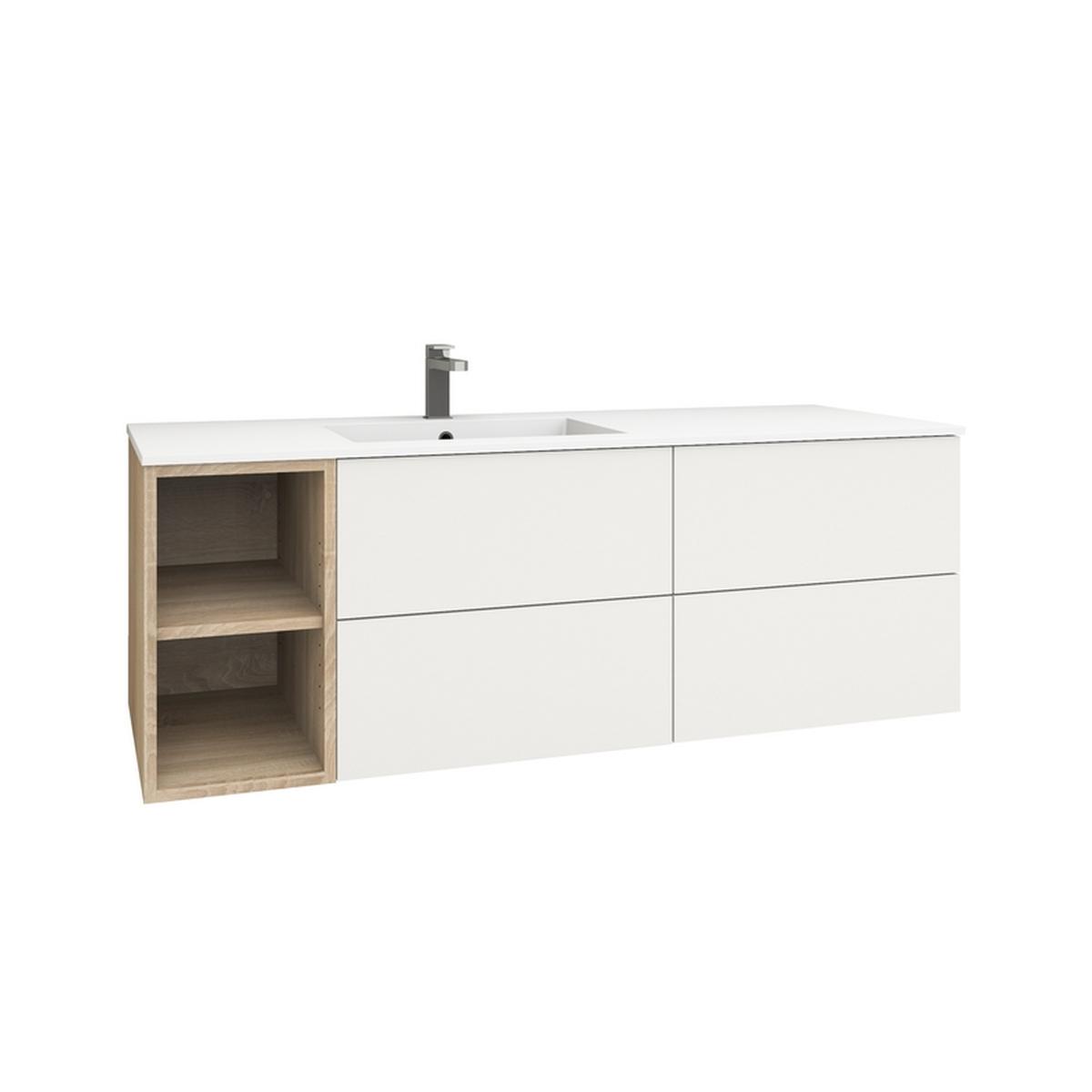 levanto 150l waschtisch regal 2 schubladen 2 ausz ge. Black Bedroom Furniture Sets. Home Design Ideas