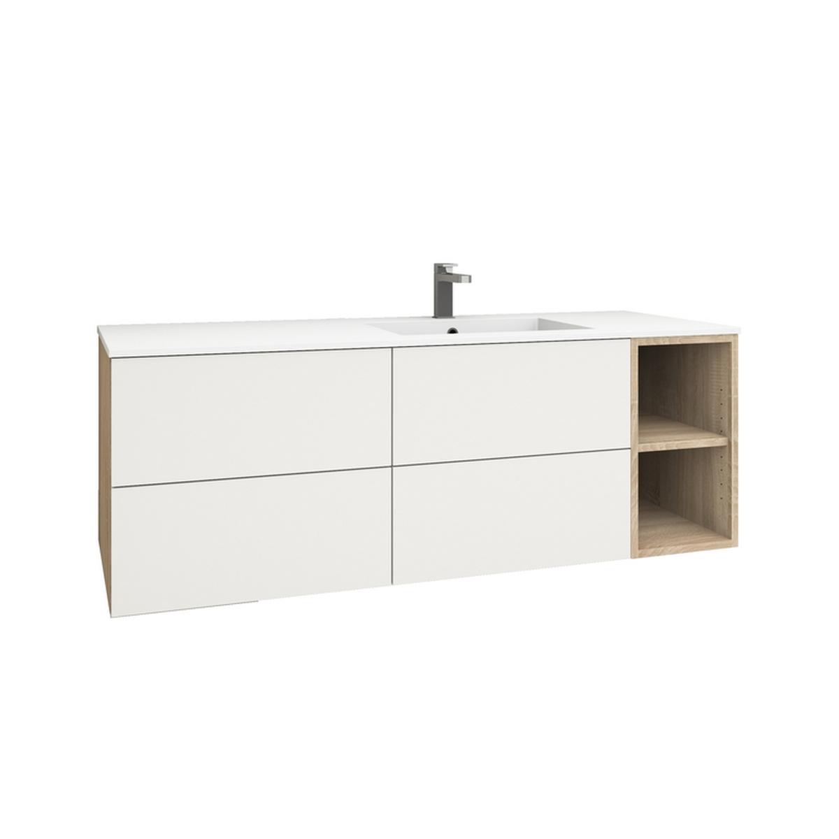 levanto 150r waschtisch 2 schubladen 2 ausz ge regal. Black Bedroom Furniture Sets. Home Design Ideas