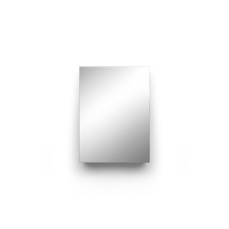 Einbau Spiegelschrank in FENIX NTM nach Maß mit 1 Tür