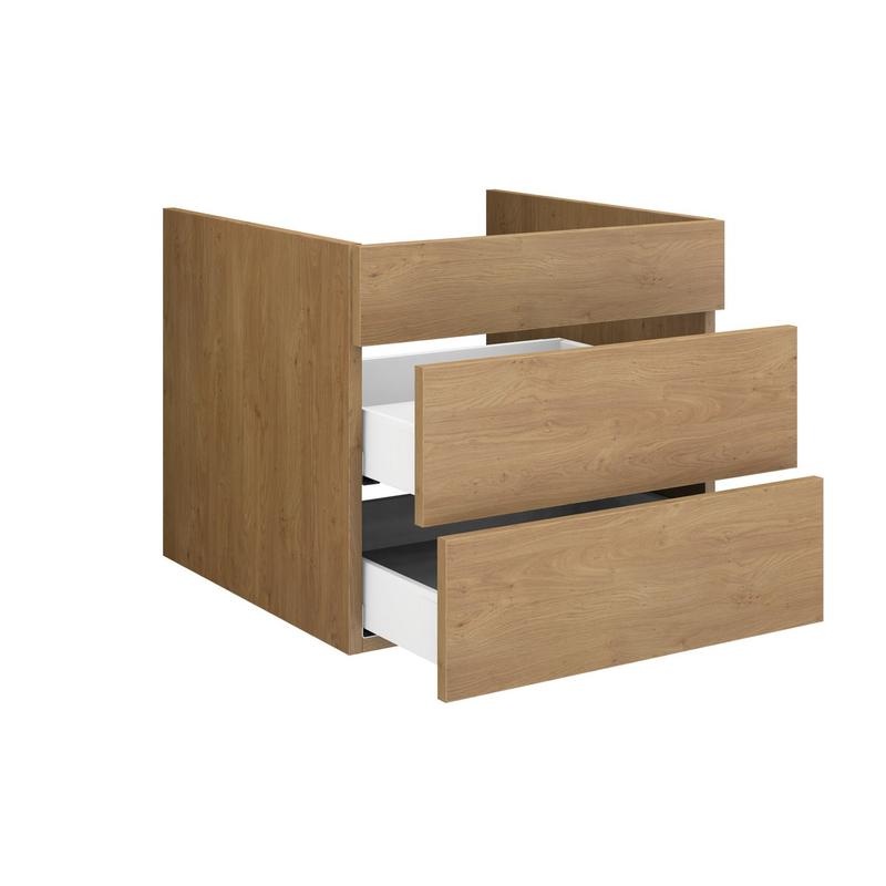Waschtischunterschrank Holz Blende 2 Schubladen