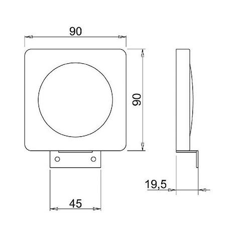 Technische Zeichnung LED-Aufbauleuchte