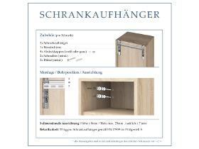 Vorschau Montageanleitung der Schrankaufhänger für Badschränke und Spiegelschränke