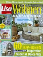 Lisa Wohnen Dekorieren August 2015 Cover